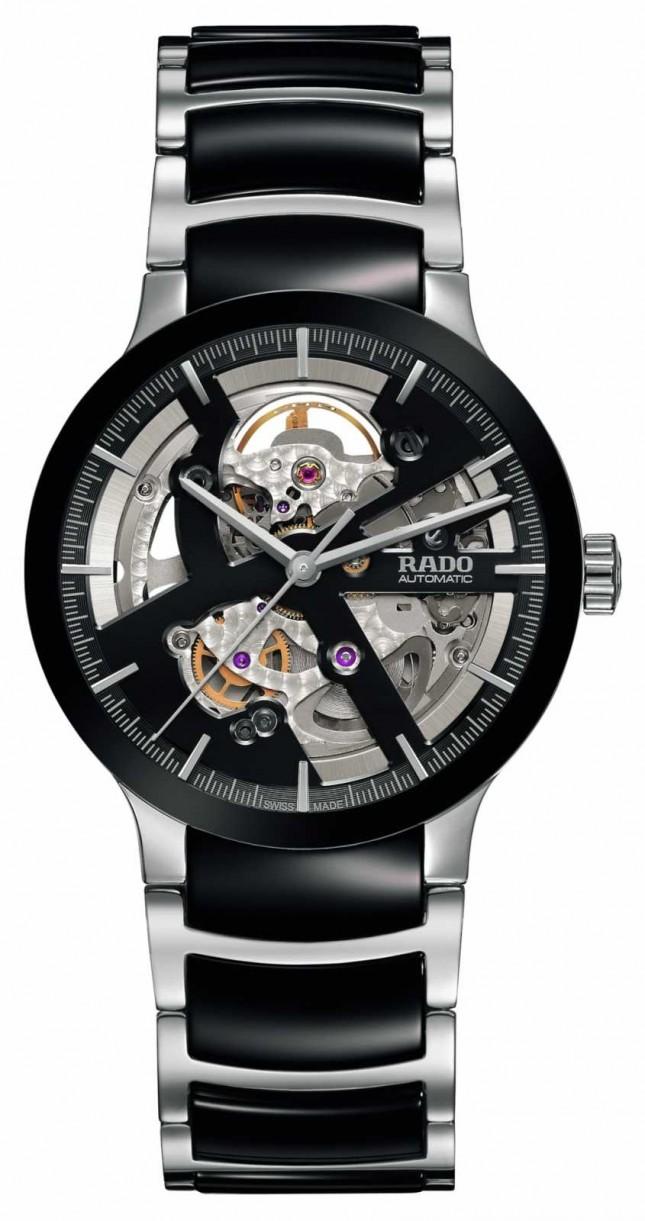 RADO Centrix Open Heart Automatic Black Ceramic Watch R30178152