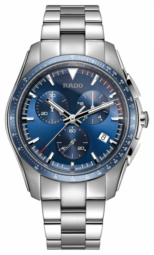 RADO XXL HyperChrome Chronograph Stainless Steel Blue Dial Watch R32259203