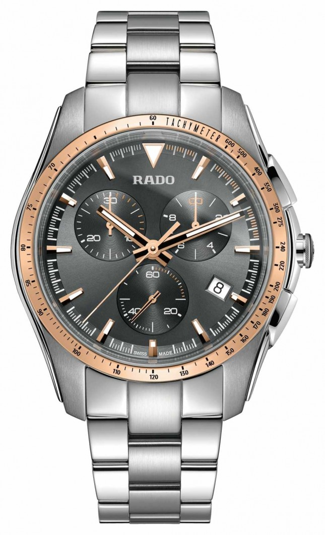 RADO XXL HyperChrome Chronograph Stainless Steel Grey Dial Watch R32259163