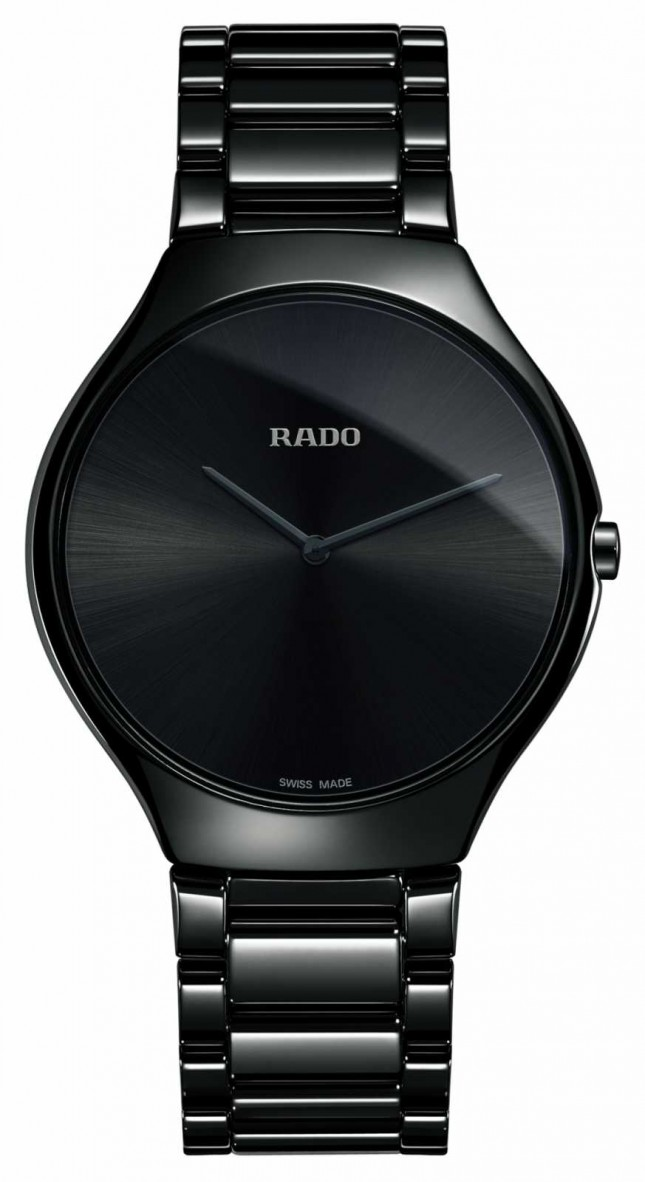 RADO True Thinline High-tech Ceramic Black Dial Watch R27741182