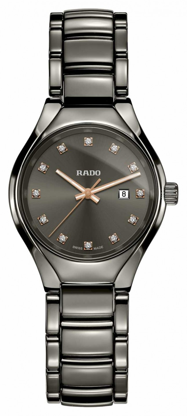 RADO True Diamonds Plasma High-tech Ceramic Grey Dial Watch R27060732