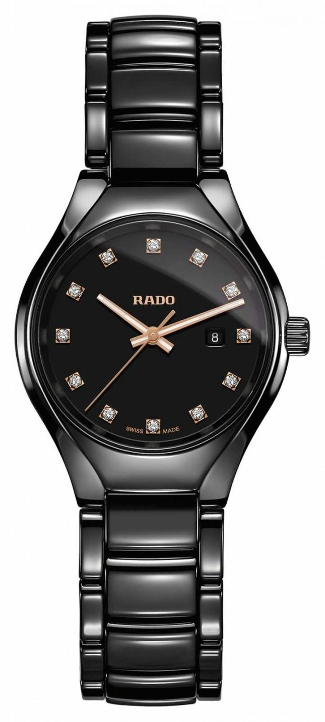 RADO True Diamonds Plasma High-tech Ceramic Black Dial Watch R27059732