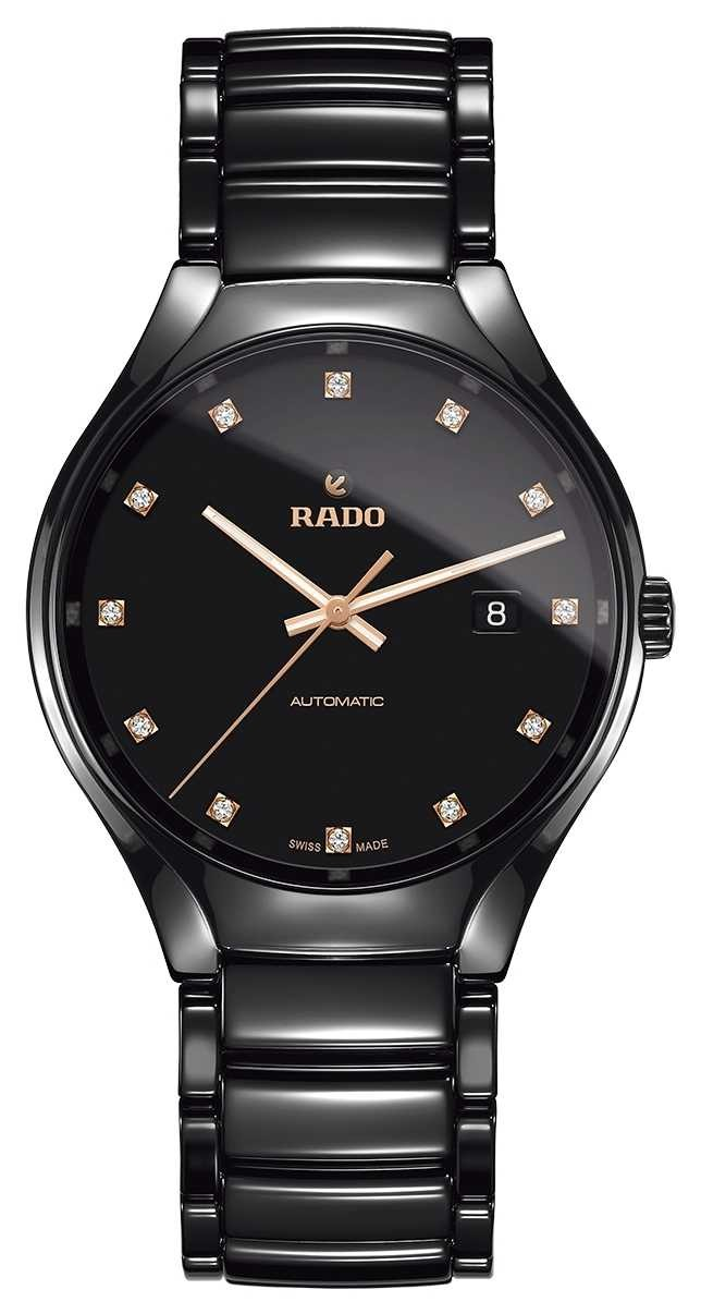 RADO True Automatic Diamonds Plasma High-tech Ceramic Watch R27056732