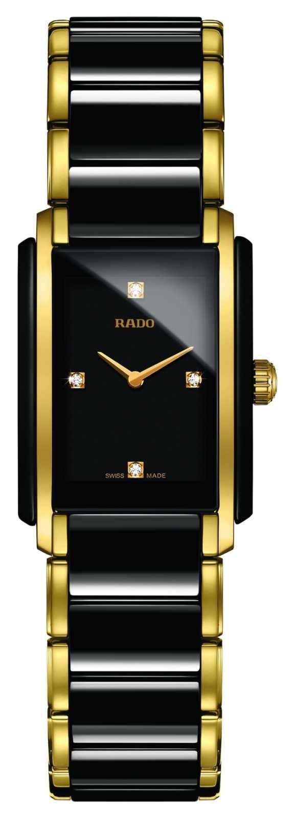 RADO Integral Diamonds High-Tech Ceramic Square Dial Watch R20845712