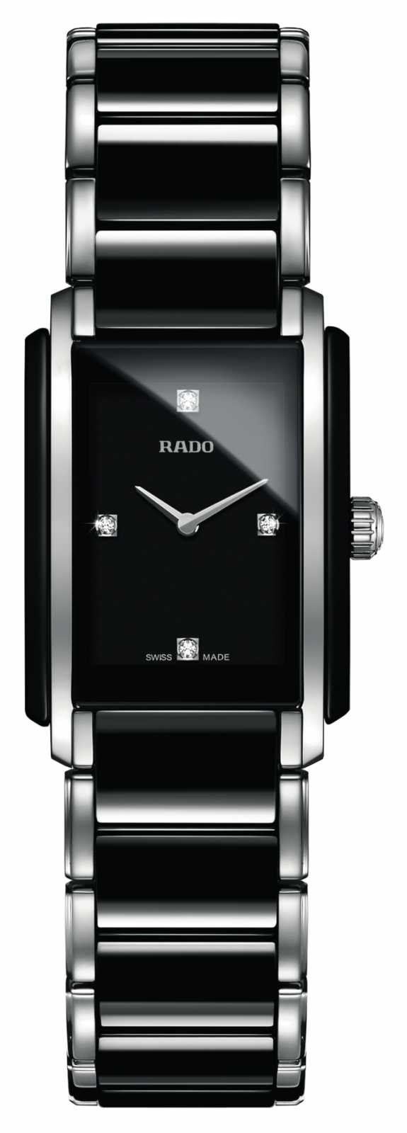 RADO Integral Diamonds High-Tech Ceramic Square Dial Watch R20613712