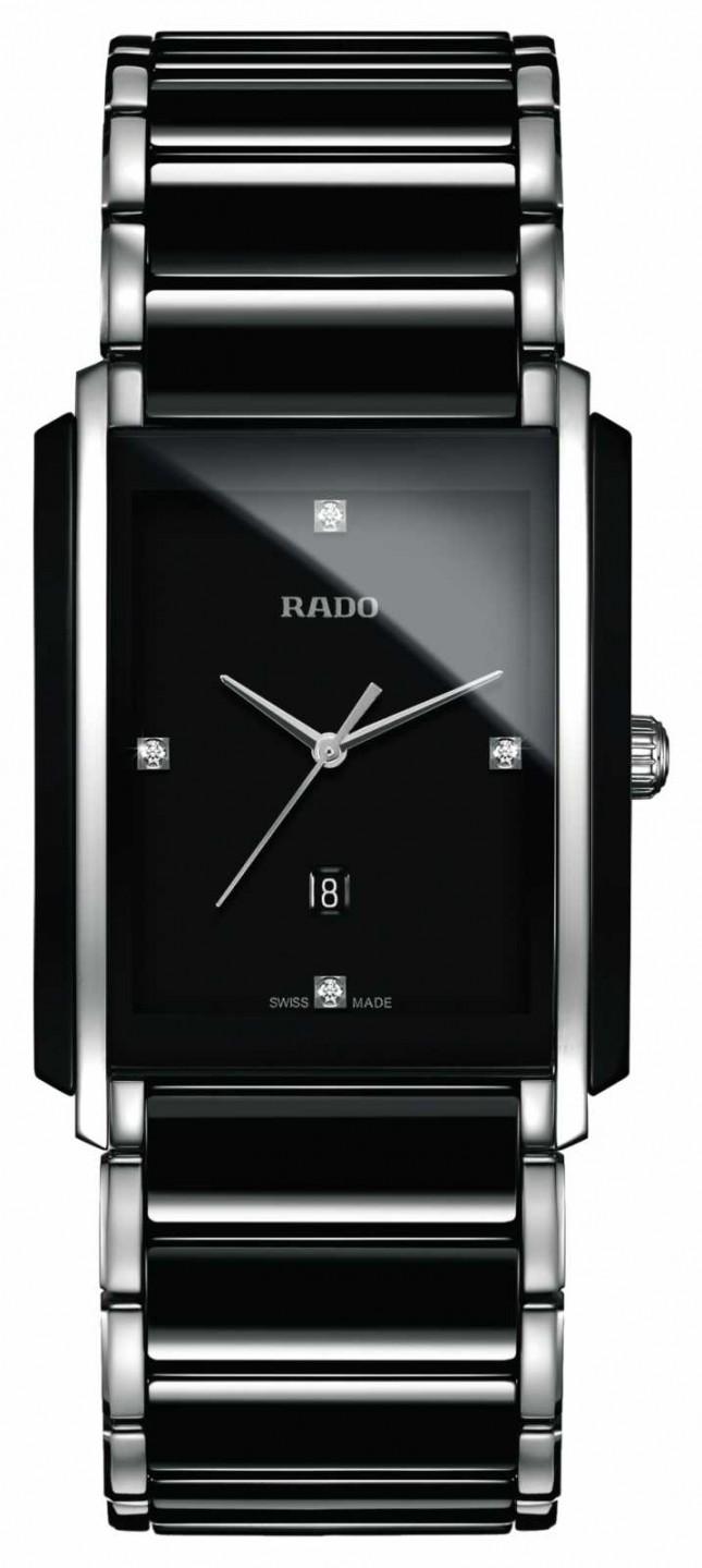 RADO Integral Diamonds High-Tech Ceramic Black Square Dial Watch R20206712
