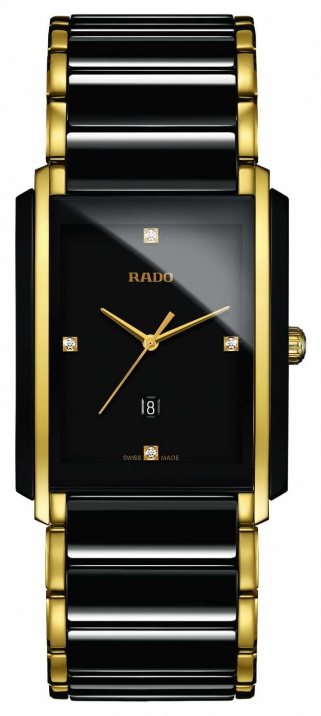 RADO Integral Diamonds High-Tech Ceramic Black Square Dial Watch R20204712