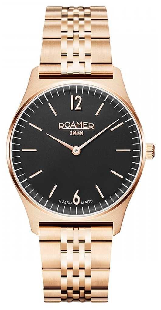 Roamer | Women's Elements | Rose Gold Stainless Steel | Black Dial 650815 49 60 50