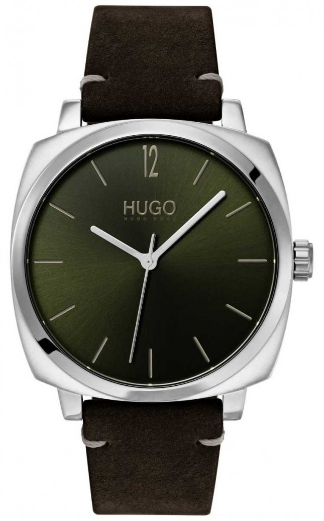 HUGO #OWN | Black Leather Strap | Green Dial 1530068