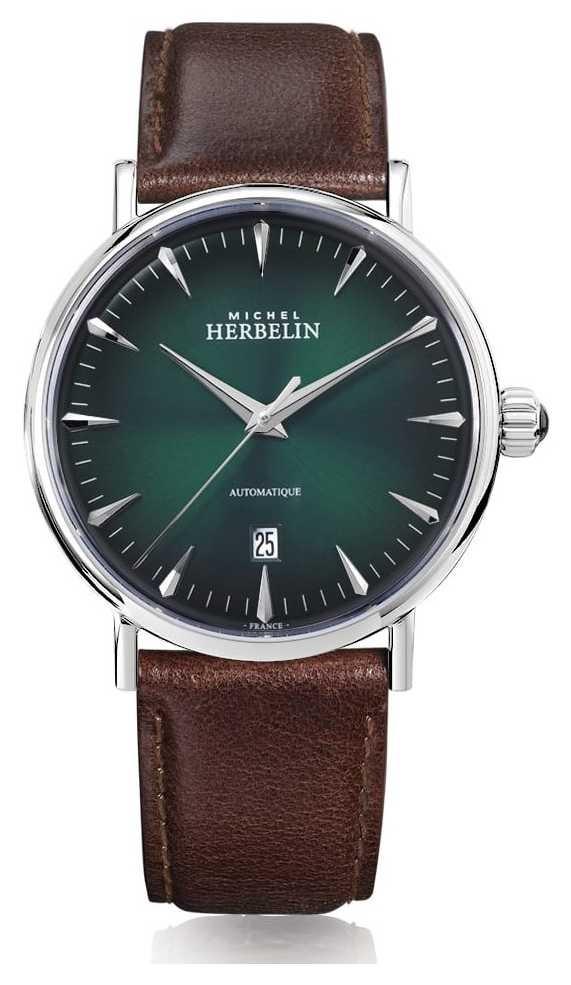 Michel Herbelin | Mens | Inspiration | Automatic | Green Dial | 1647/AP16BR