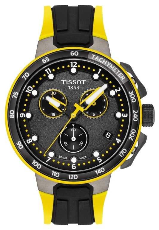 Tissot | T-Race Cycling Tour De France 2019 | Black/Yellow Rubber T1114173705700