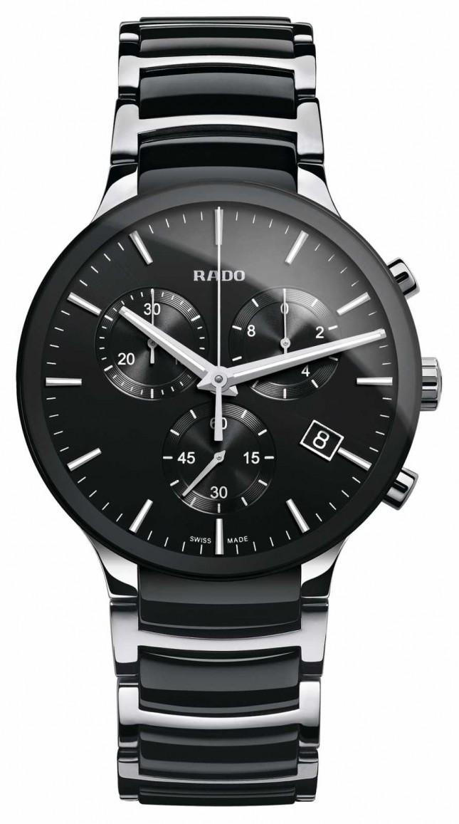 RADO Centrix Chronograph Black Ceramic Bracelet Watch R30130152
