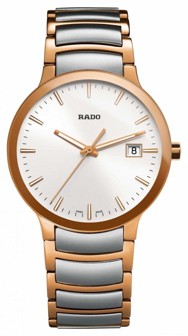 RADO Centrix Two Tone Stainless Steel White Dial Watch R30554103