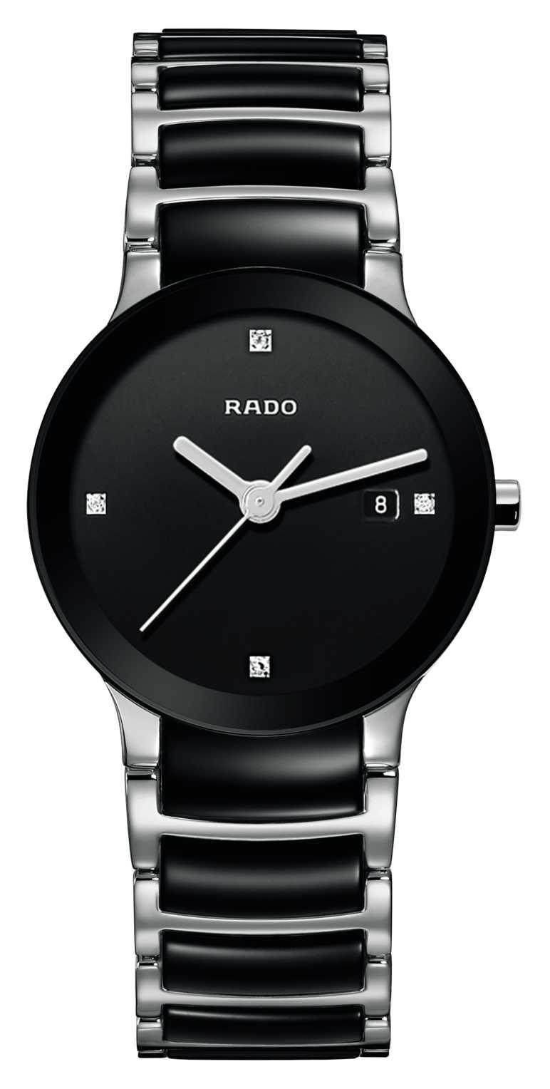 RADO Centrix Diamonds High-Tech Ceramic Black Dial Watch R30935712