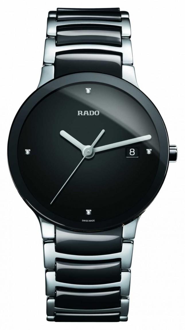 RADO Centrix Diamonds High-Tech Ceramic Black Dial Watch R30934712