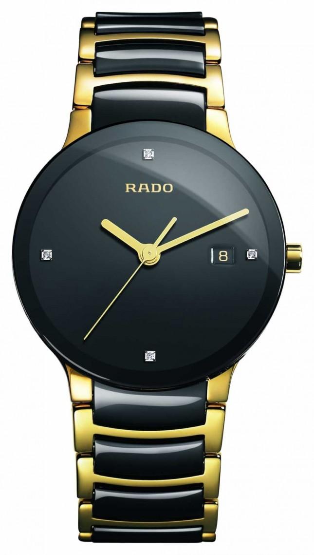 RADO Centrix Diamonds High-Tech Ceramic Black Dial Watch R30929712