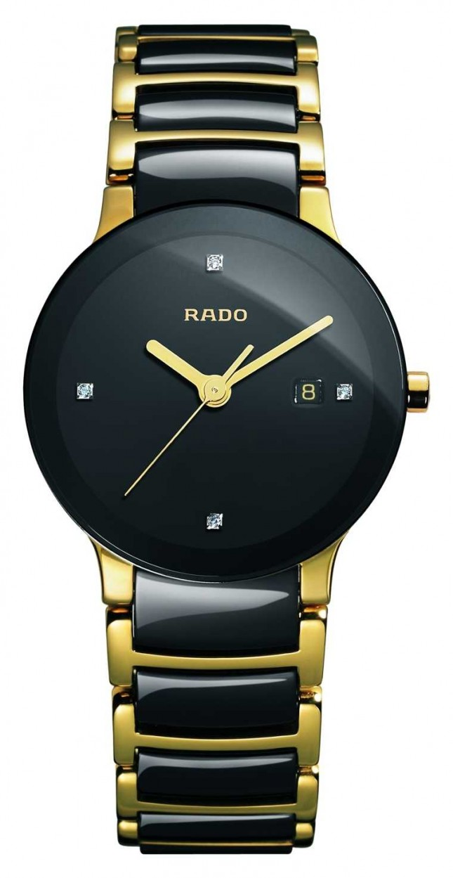 RADO Centrix Diamonds High-Tech Ceramic Black Dial Watch R30930712