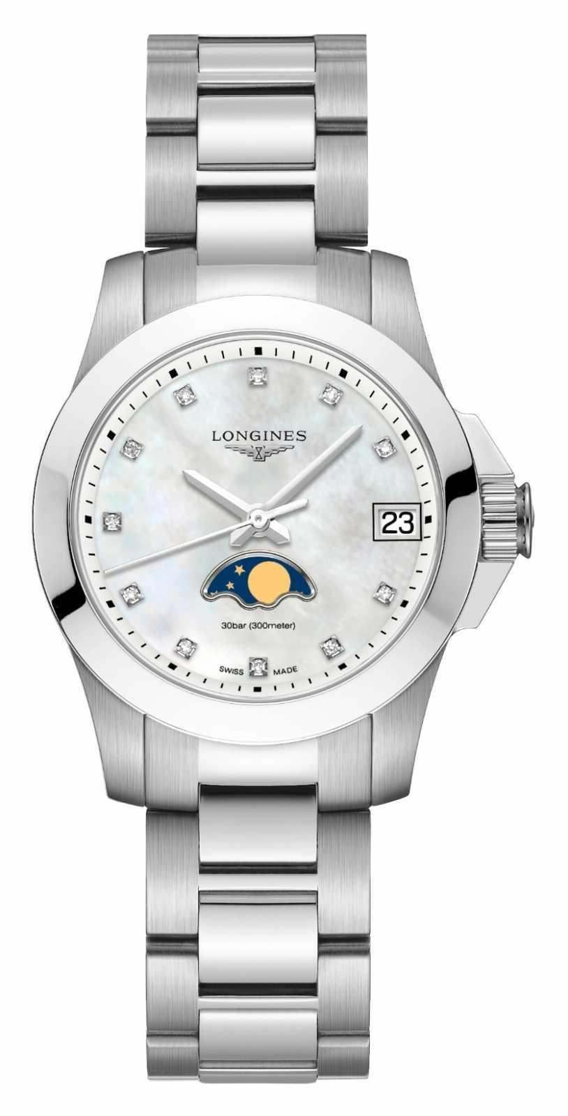 Longines   Conquest Sport   Women's   Moon Phase   Swiss Quartz   L33804876