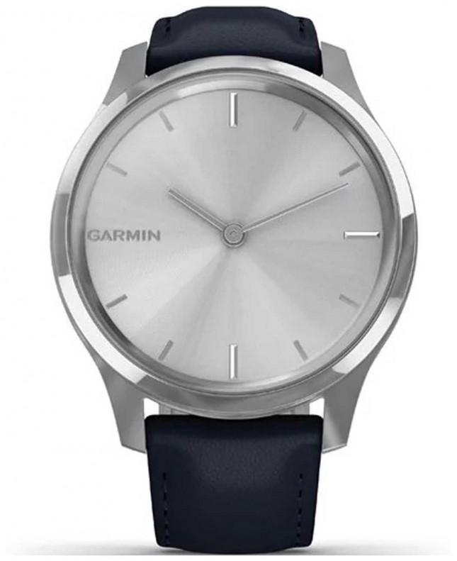 Garmin Vivomove 3 Luxe | Stainless Steel Case | Navy Italian Leather 010-02241-00