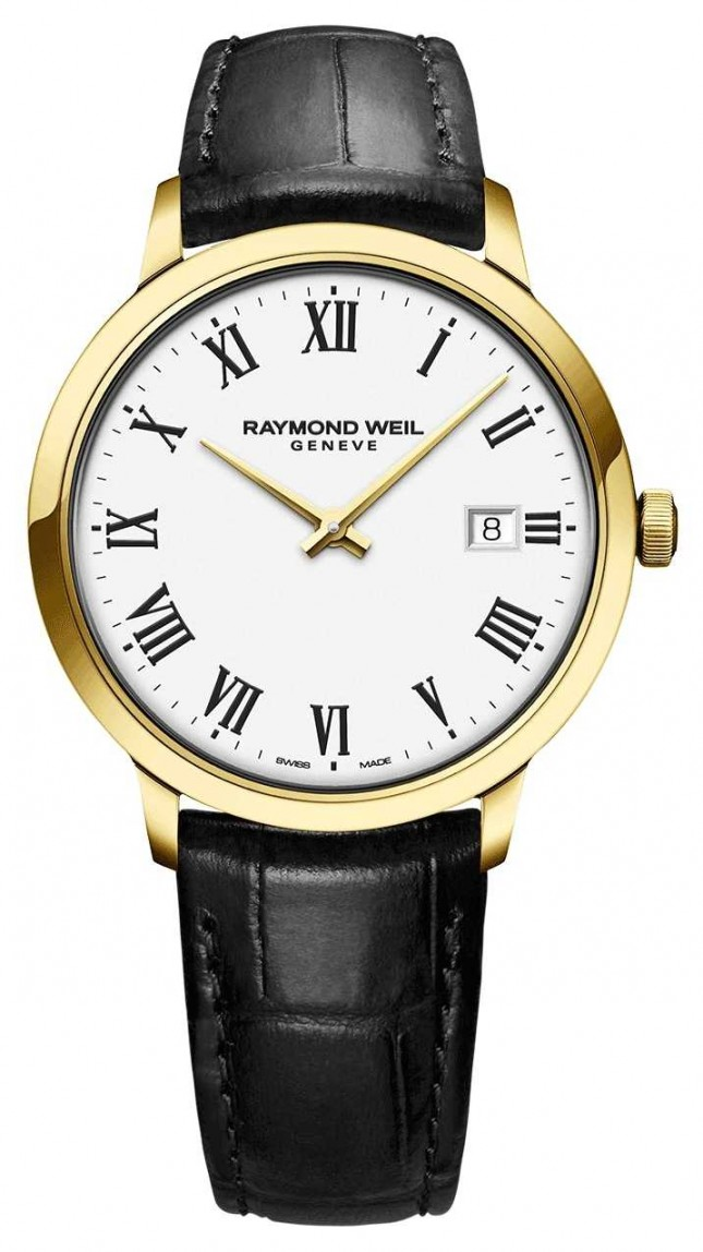 Raymond Weil | Mens Toccata | Classic PVD Gold Case White Dial | 5485-PC-00300