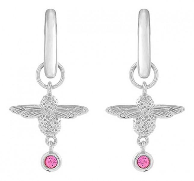 Olivia Burton | Mum To Bee | Huggie Hoop | Silver And Pink | Earrings | OBJAME165