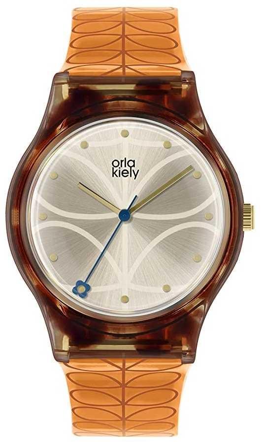 Orla Kiely | Womens | Tortoiseshell Case | Orange Stem Print Strap | OK2308