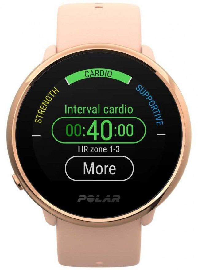 Polar | Ignite | Pink & Rose Fitness Watch | Small | Pink Rubber 90079898