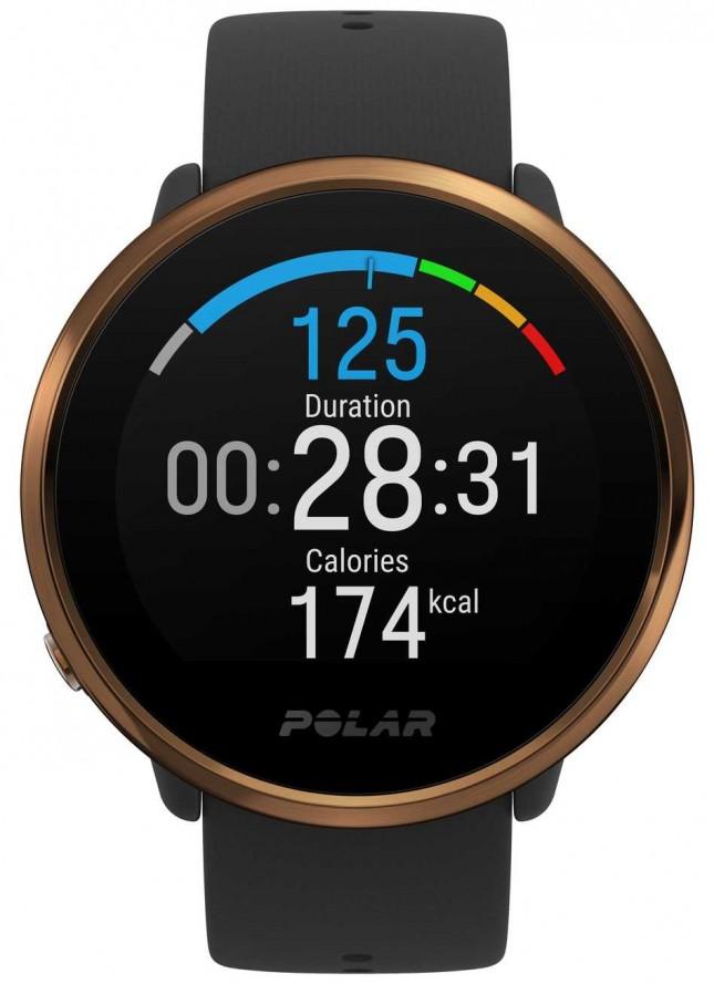 Polar | Ignite | Black & Copper Fitness Watch | M/L | Black Rubber 90079362
