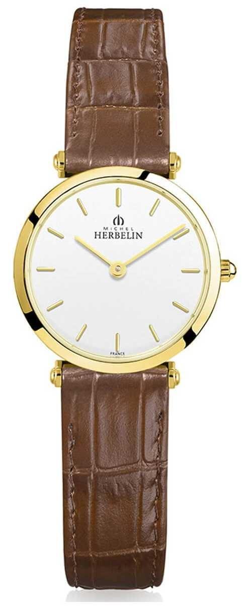 Michel Herbelin   Womens   Epsilon   Brown Leather Strap 17106/P11GO