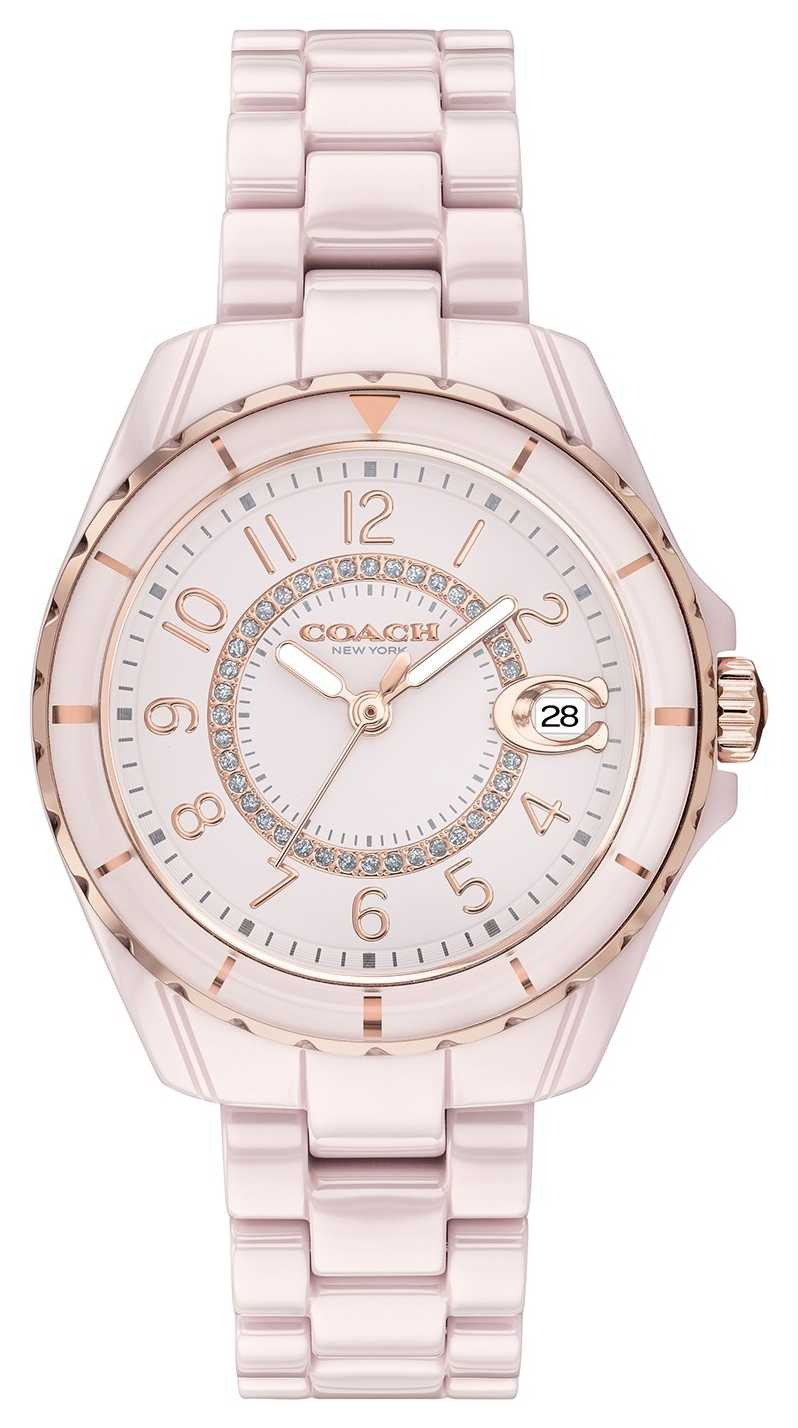 Coach | Womens | Preston | Pink Ceramic Bracelet | Pink Dial | 14503463
