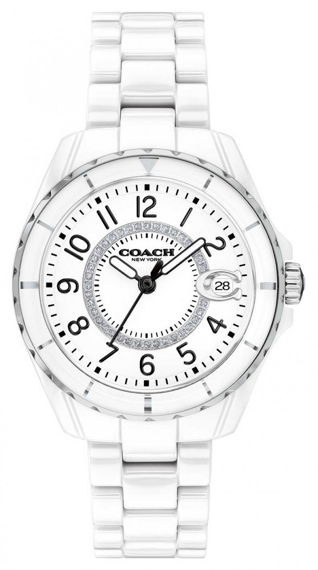 Coach | Womens | Preston | White Ceramic Bracelet | White Dial | 14503462