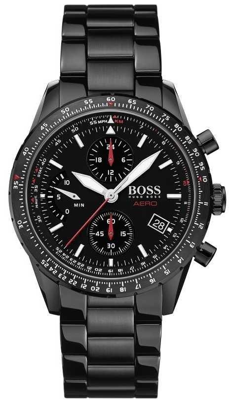 BOSS | Aero | Black Chronograph | Black Bracelet Watch | 1513771