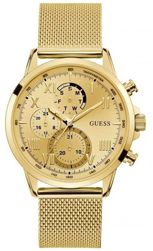 Guess | Men's Porter | Gold Tone Mesh Bracelet | Gold Dial | W1310G2