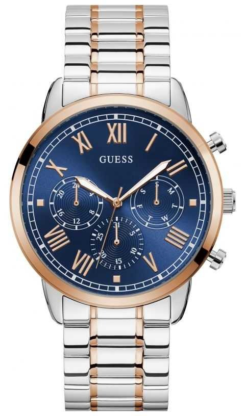 Guess | Men's Hendrix | Two-Tone Stainless Steel | Navy Dial | W1309G4