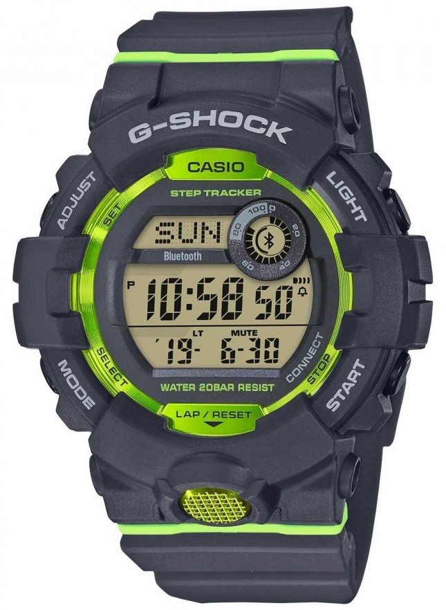 Casio G-Squad Grey Green Digital Bluetooth Step Tracker GBD-800-8ER