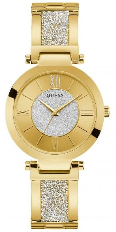 Guess | Women's Aurora | Gold Crystal Bracelet | Gold Dial | W1288L2