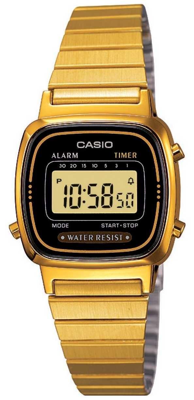 Casio Womens Digital Bracelet Retro Gold Plated LA670WEGA-1EF