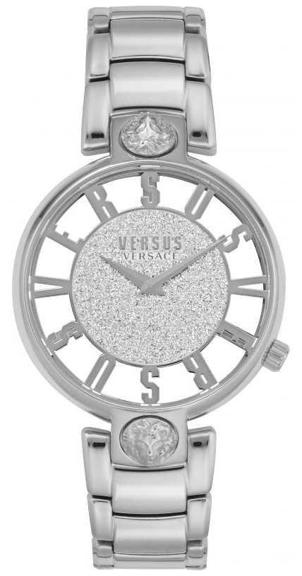 Versus Versace | Women's Kirstenhof | Silver Steel Bracelet | Glitter Dial VSP491319