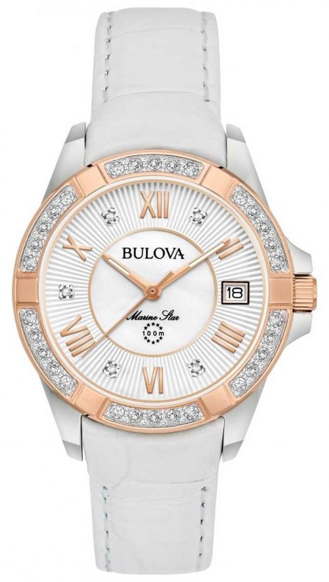 Bulova Womans Marine Star Diamond White 98R233