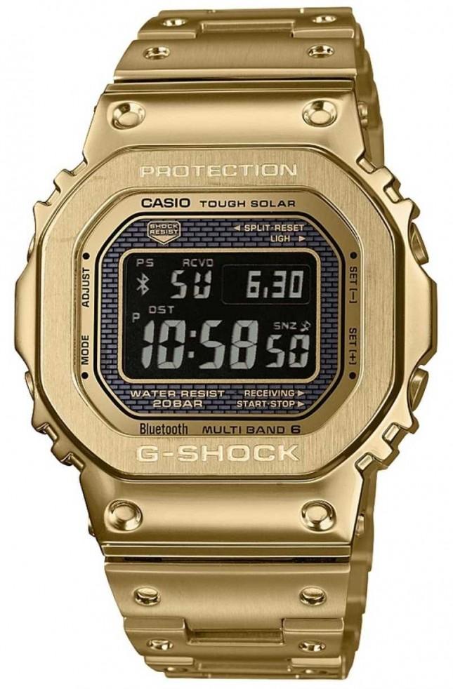 Casio G-Shock Radio Controlled Bluetooth Solar Gold Plated Steel GMW-B5000GD-9ER