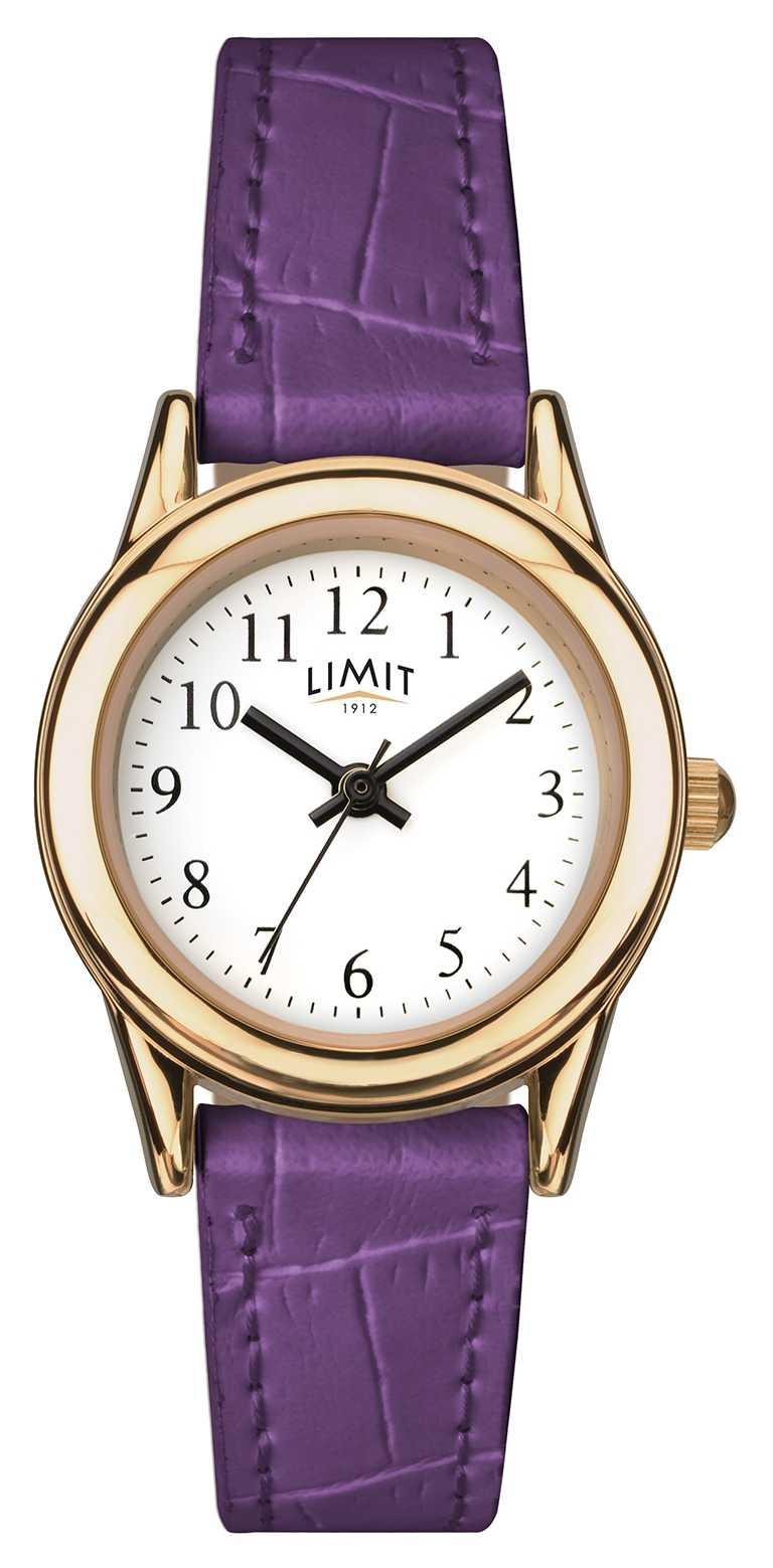 Limit Womens Purple Strap White Dial 6982