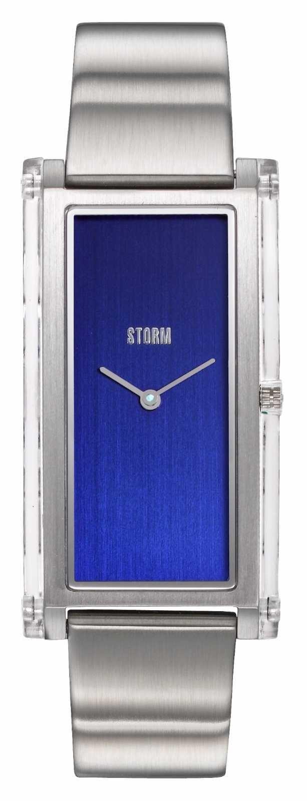 STORM   Plexia Blue   Stainless Steel Bracelet   Blue Dial   47450/B