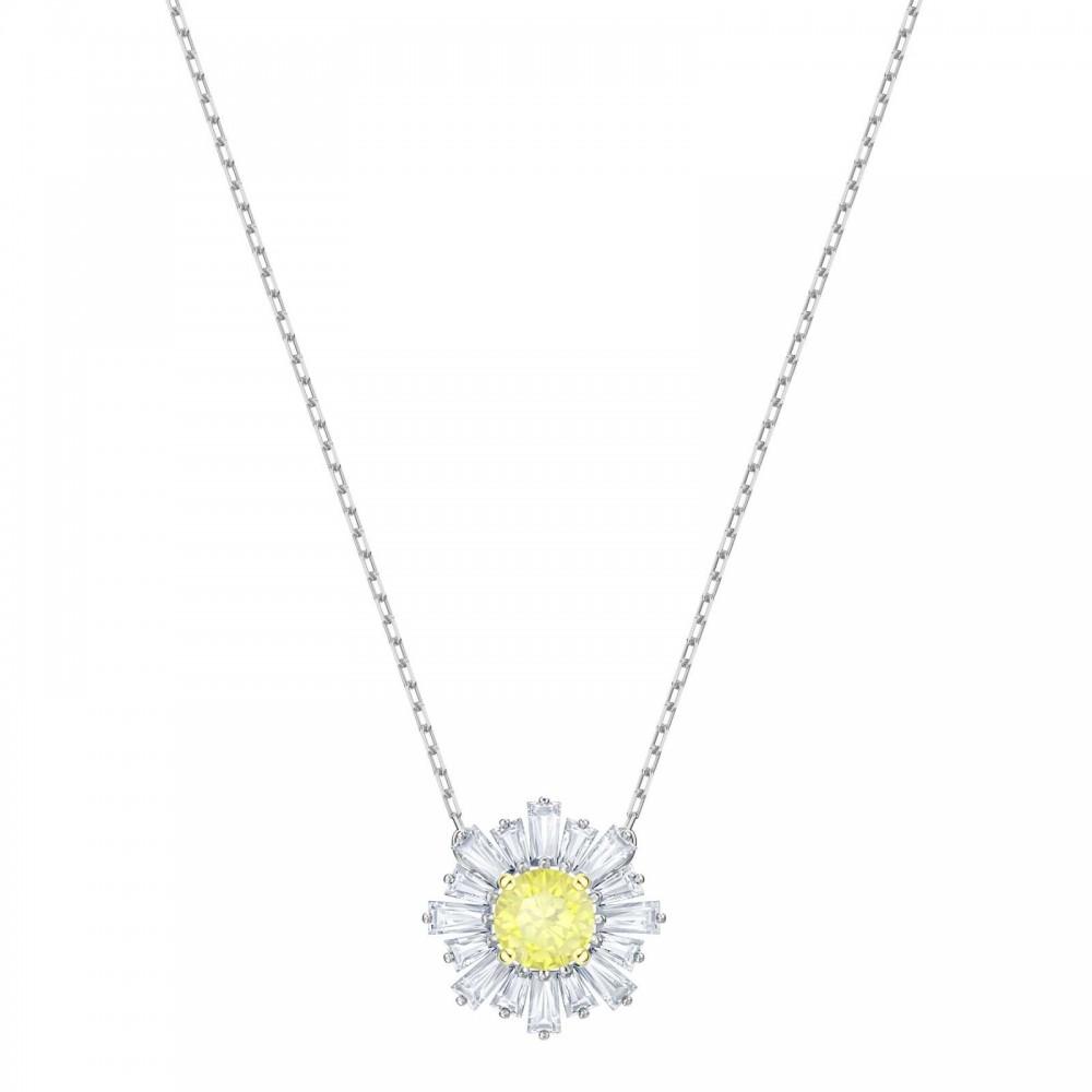 Swarovski Sunshine   Rhodium Plated   Yellow   Necklace 5459588