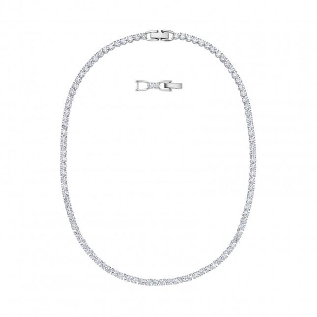 Swarovski Tennis  Rhodium Plated   White  Deluxe  Necklace 5494605
