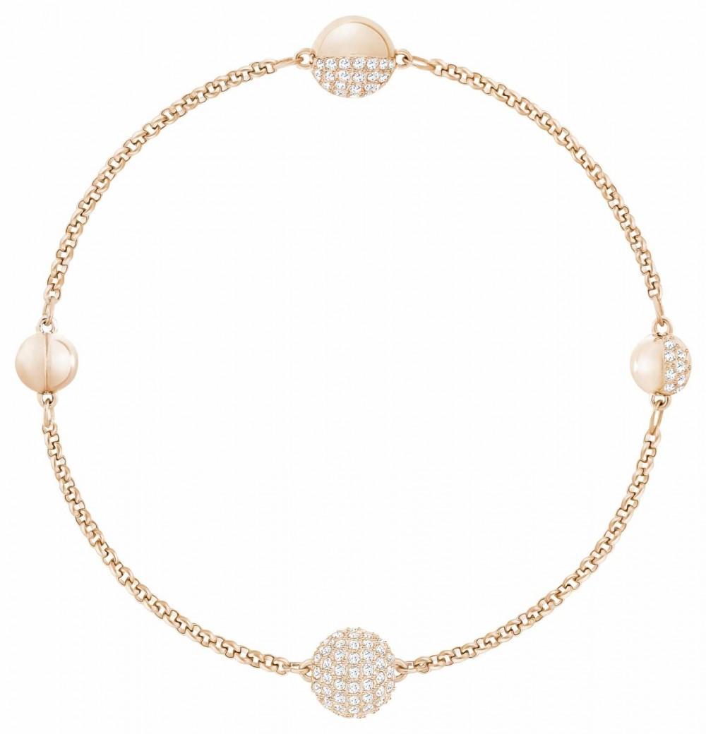 Swarovski Remix  Rose-Gold Plated  White   Round Strand   Bracelet 5365763