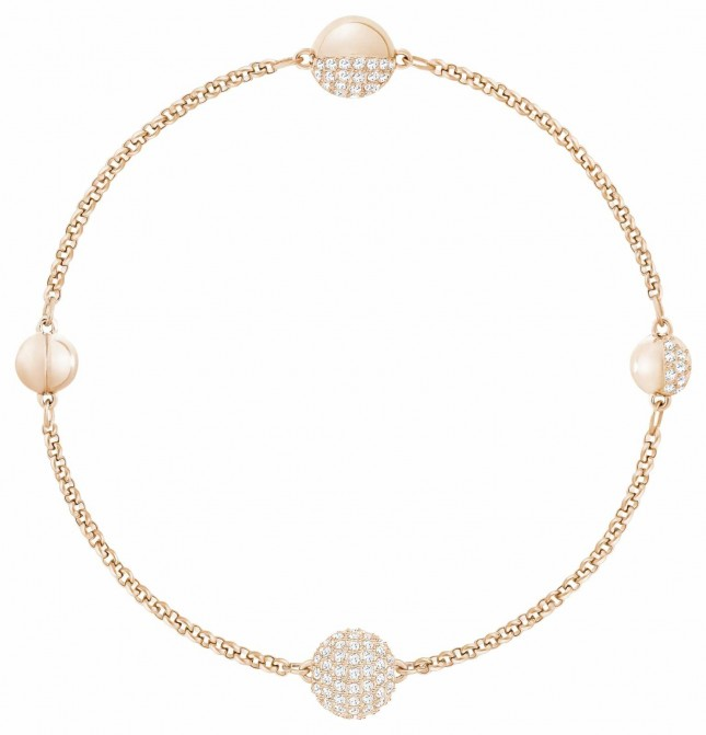 Swarovski Remix| Rose-Gold Plated |White | Round Strand | Bracelet 5365763
