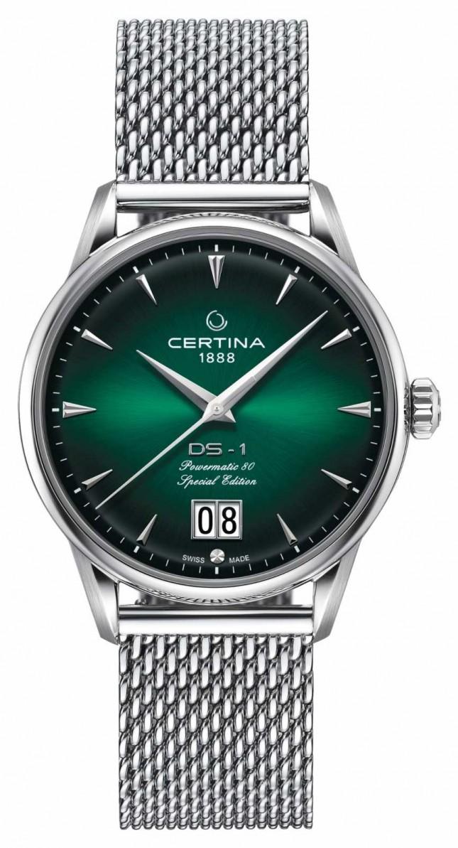 Certina DS-1 Special Edition Big Date | Powermatic 80 | Silver Mesh C0294261109160