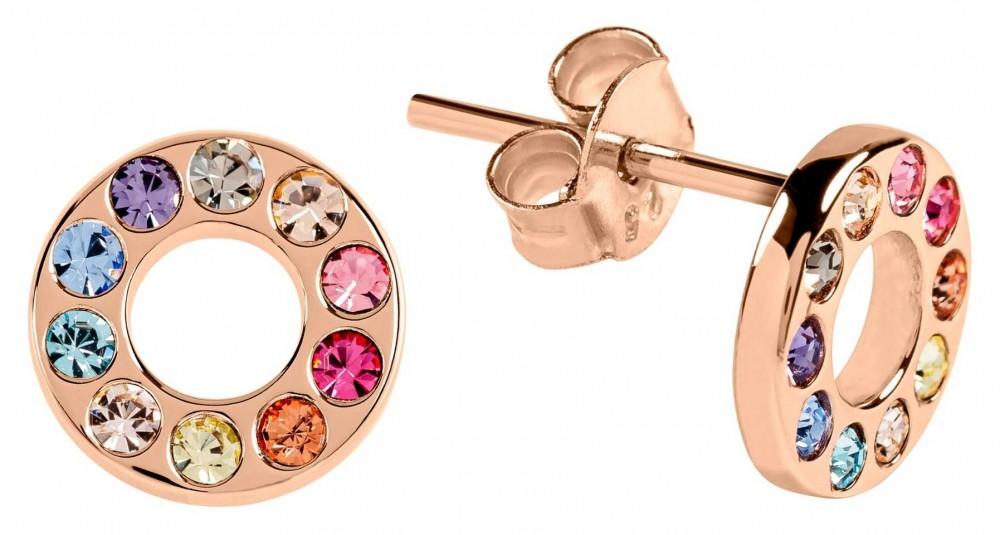 Radley Jewellery Radley Rocks   Rose Gold Plated Multicoloured Stone Earrings RYJ1110