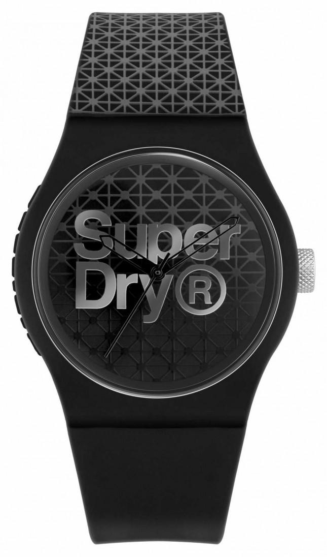 Superdry Urban Geo Sport   Black/Grey Silicone Strap  Black/Grey Dial SYG268B