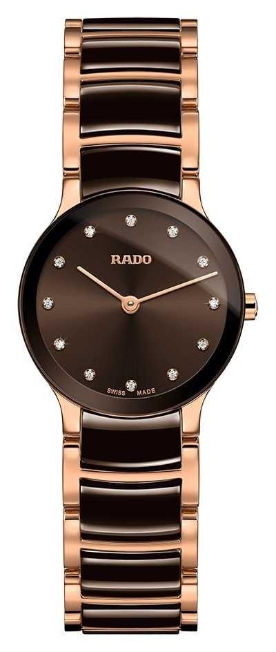 RADO Centrix Diamonds White Ceramic And Rose Gold R30190702